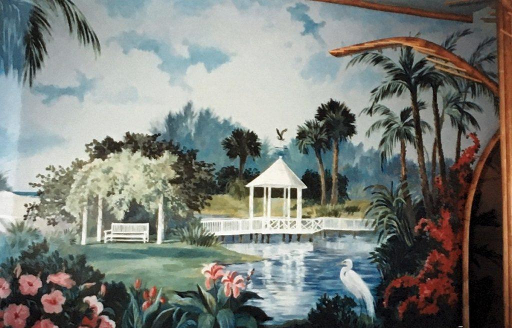 1995 - mural - Pass Club bridge