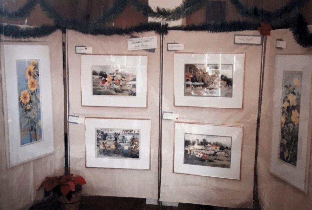 1993 Christmas art display