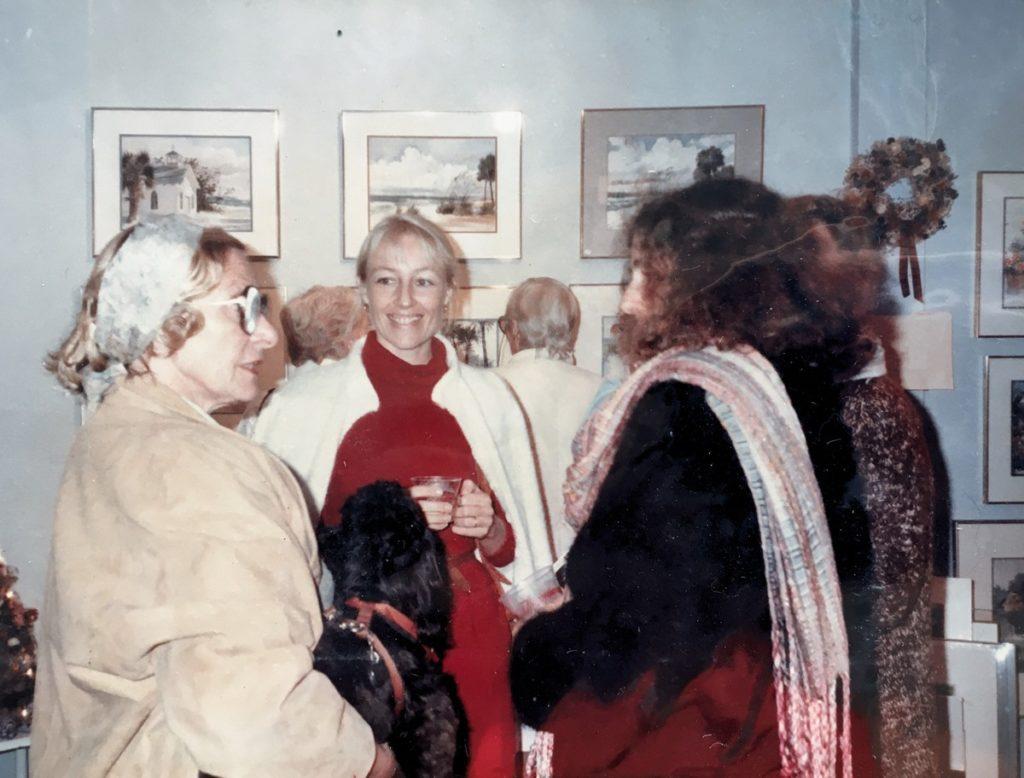1987-1988 people at exhibit