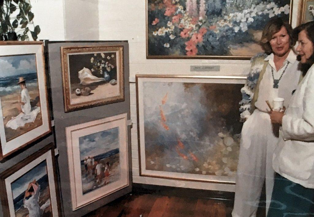 1992-93 - woman looking at art exhibit