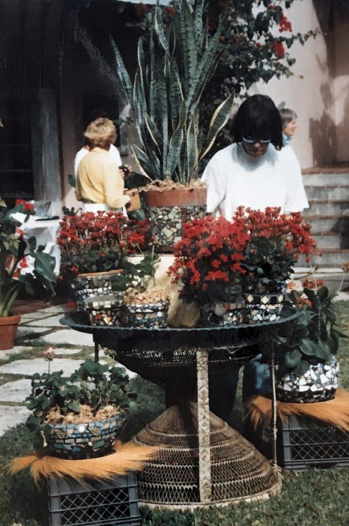1994 woman looking at plants