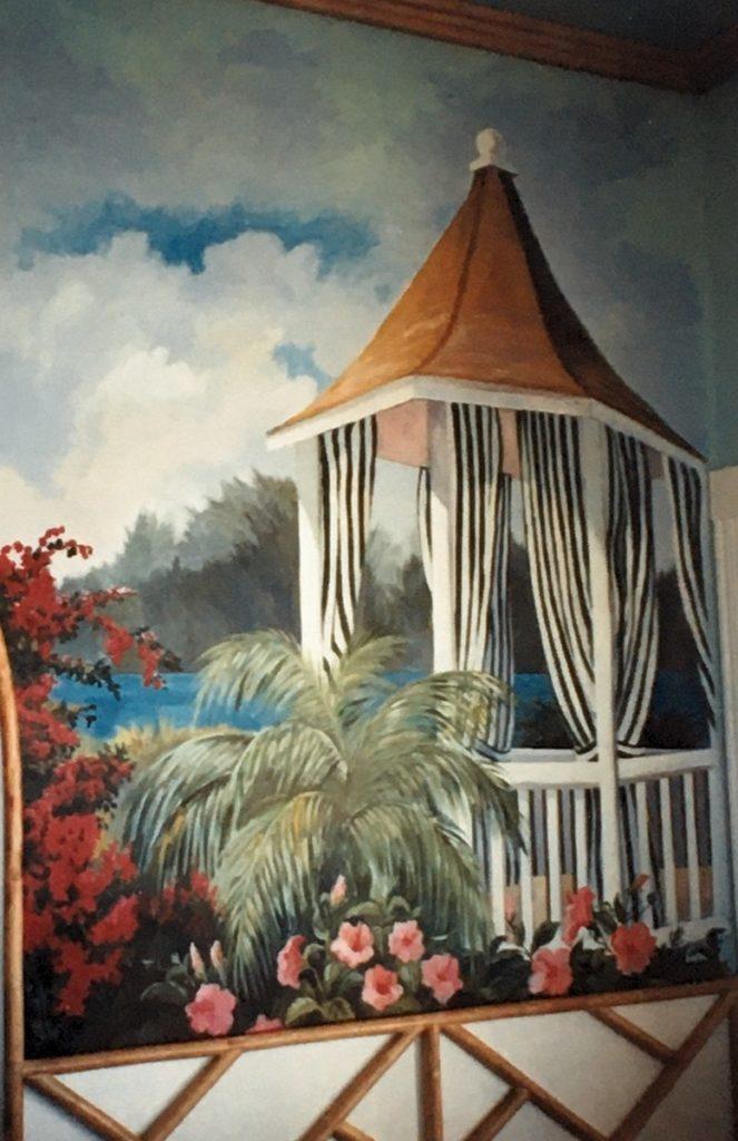 1995 - mural - pagoda