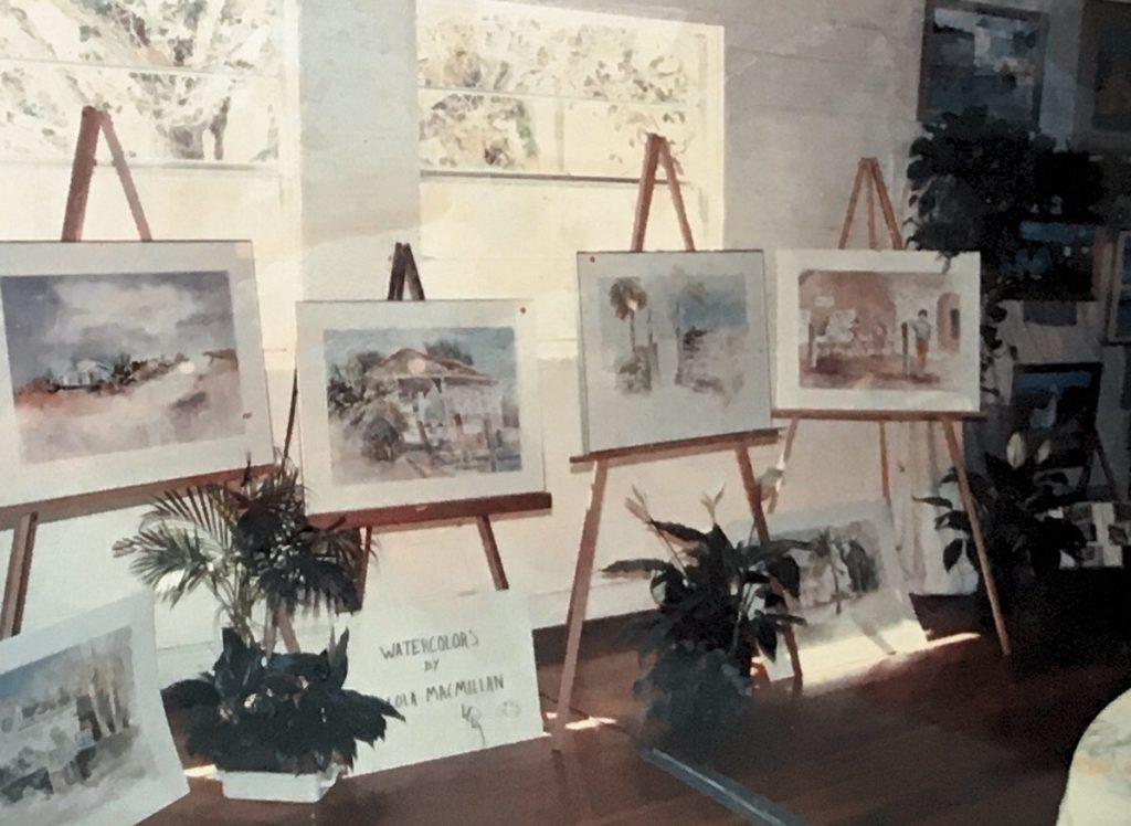 1988-89 watercolors by Lola MacMillan