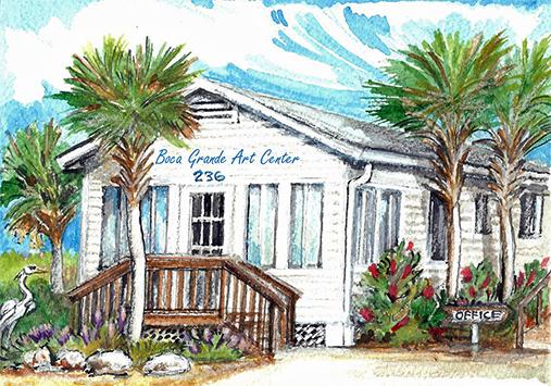 Painting of Boca Grande Art Center Building