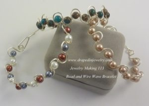 bead and wire wave bracelets by Nancy VanTassell