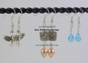 wire earrings by Nancy Van Tassell