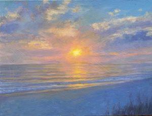 Painting of Boca Grande Sunset overlooking the beach