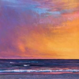 pastel of a colorful sunset by Dianna Shandorf