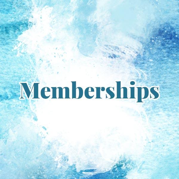 Memberships written on watercolor painting