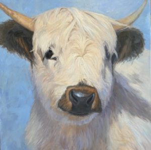 painting of a bull by Nancy Bass