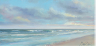 oil painting of the beach by Douglas David